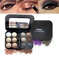1 pcs Matte Shimmer Sombra de Olho Conjunto de Maquiagem Da Paleta Da Sombra de Cosméticos À Prova D' Água Com Pigmento 12 Cores