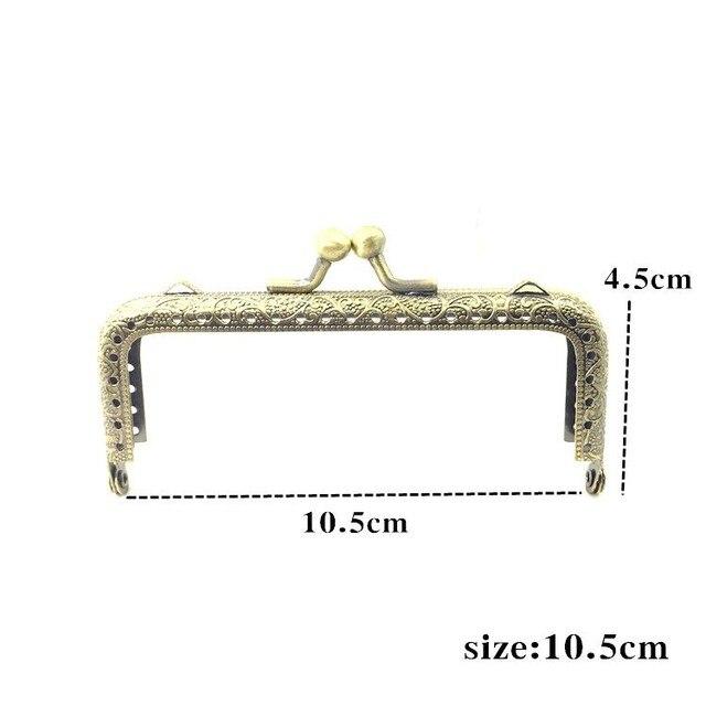 LIONSEN 6.5/7.5/8.5/10.5/12.5/15/18/20cm DIY Metal square Frame Purse Handle Coin Bags Metal Kiss Clasp Lock Frame Accessories 4