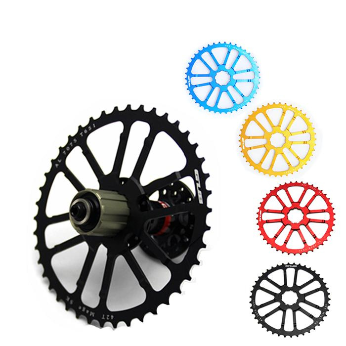GUB 42T Teeth cog for 34/36t tooth 10 speed 10s MTB Cassette Sprocket for single / double chainring Mountain bike top high speed full teeth piston