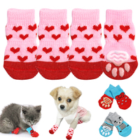 4pcs-kitten-cat-knit-socks-warm-winter-puppy-dog-shoes-anti-slip-pet-sock-shoes-for-small-dogs-cats-chihuahua-pets-clothes