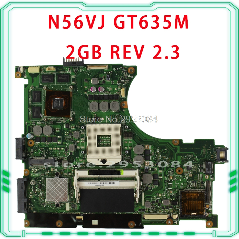 все цены на For Asus n56vm Rev 2.3 laptop motherboard Fit N56VM N56VJ N56VZ N56VB non-integrated N13P-GLR-A1 GT635M 2GB system motherboard онлайн