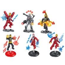Marvel Avengers Infinity War DC Super Heroes Iron Man building blocks Action Movie Figures toys