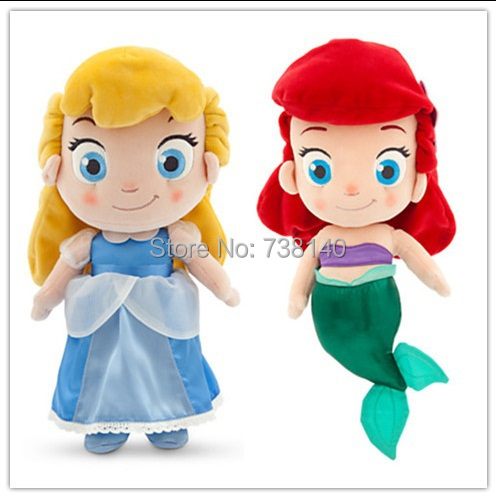 Version de film d'action en direct de cendrillon baymax 30 cm jouets en peluche elsa et sirène princesse peluche poupée cadeaux pour enfants