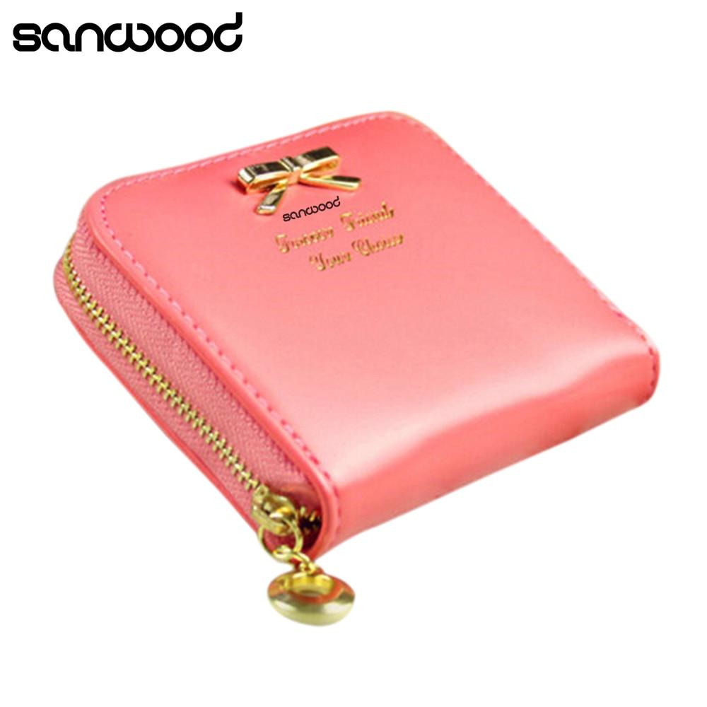Hot Fashion Wanita Mini Faux Kulit Lady Purse Dompet Pemegang Tas Flap V Kartu Koin 02u6 4on7