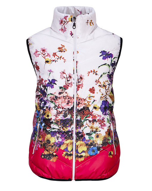 2017 New women witner vest colete feminino winter women casual floral jacket vest outerwear coat vest
