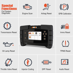 Image 3 - Ancel FX6000 OBD2 Automotive Scanner Full System Diagnostic Tool for Car EPB SAS ABS Airbag AT Scan Tool Erase Errors in Polish