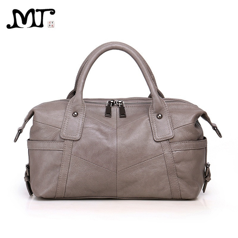 MJ Women Genuine Leather Bag Female Real Cow Leather Handbag Crossbody Bags for Women Shoulder Bag Large Capacity Ladies Tote yasicaidi fashion women leather handbags large capacity tote bag black oil leather shoulder bag crossbody bags for women handbag
