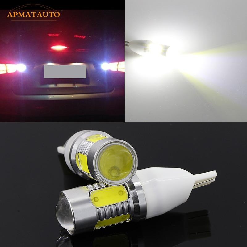 2 x T15 W16W White Plasma LED Projector Blub Tail Backup Reverse Rear Lights For For 2007 - 2014 Kia Sportage Sorento Forte