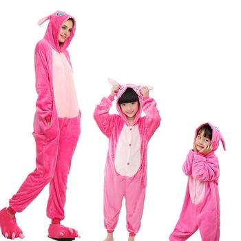 Lilo y Stitch Onesie para Unisex Kigurumi pijamas de dibujos animados para adultos y niños ropa de dormir Anime traje pijamas Cosplay fiesta