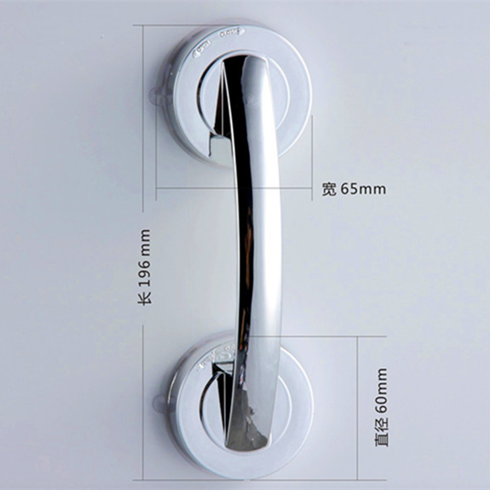 1 Pc  Vacuum Sucker Suction Cup Handrail Bathroom Super Grip Safety Grab Bar Handle For Glass Door 6.4