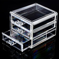 Acrylic Make Up Organizer 3 Drawers Storage Box Clear Plastic Cosmetic Storage Box Organizers Clear Cotton Pads Plastic Box