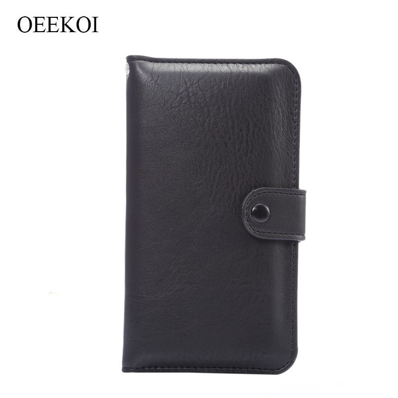 OEEKOI Elephant Pattern Wallet Cover Leather Pouch Case Card Holder for Xolo Black/Win Q900s/Era 2/Q1000/Q1010i/Q600/Q700/Era 1X