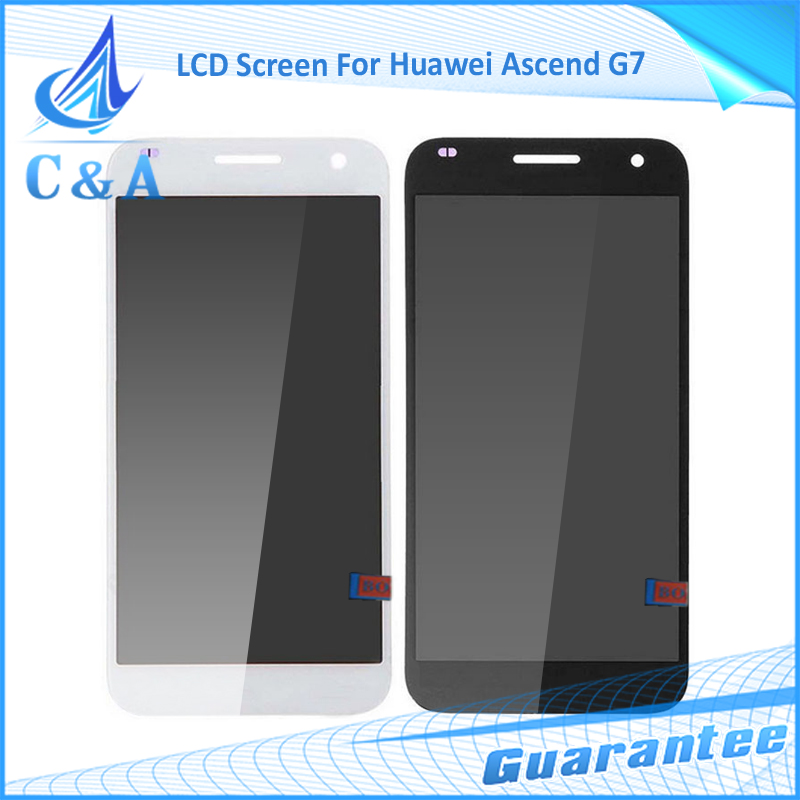 10 pcs DHL/EMS post tested replacement repair part 5.5 inch screen for Huawei Ascend G7 lcd display with touch digitizer
