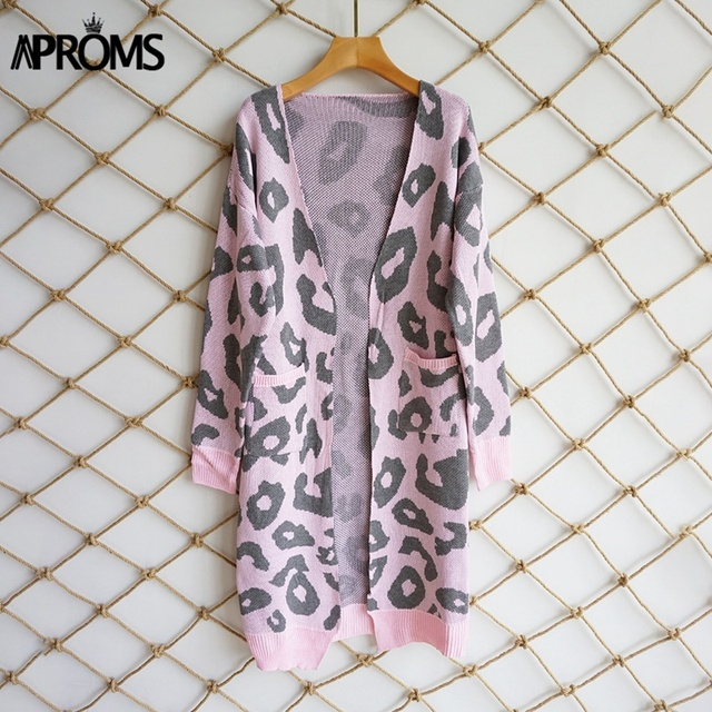 Aproms Leopard Print Knitted Sweater 4