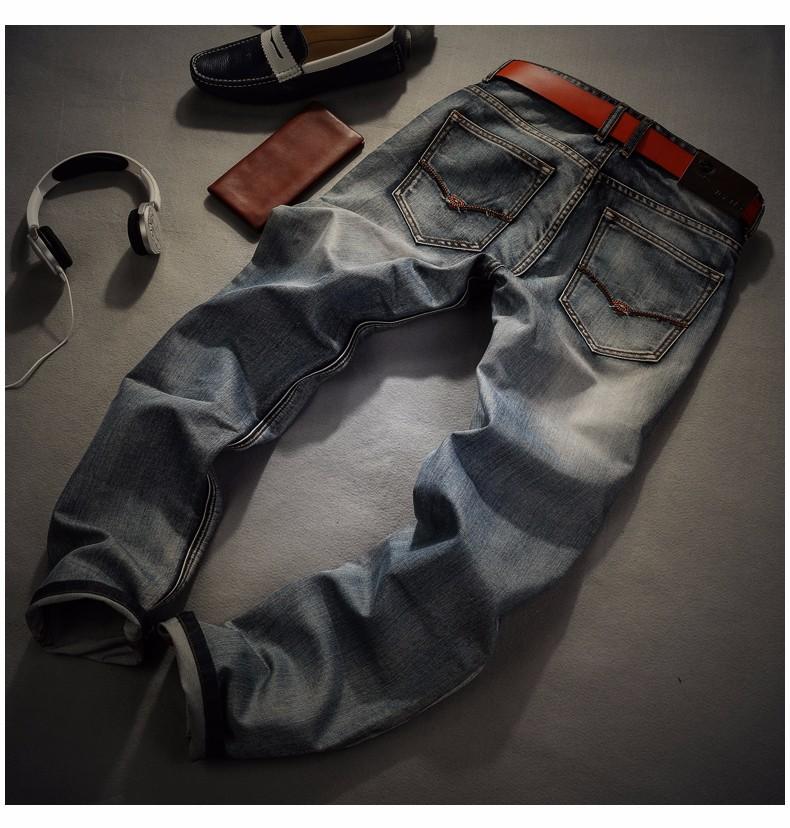 73c27da2790 AIRGRACIAS Brand Jeans Retro Nostalgia Straight Denim Jeans Men Plus ...