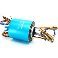 Motor elétrico usado anel coletor 10A com 24 circuitos de tamanho do furo de 38.1mm através do orifício do anel de deslizamento