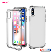 Aerdu Transparent Phone Cases For IPhone X Case Anti-fall Soft TPU Cover back cover wholesale Free shipping