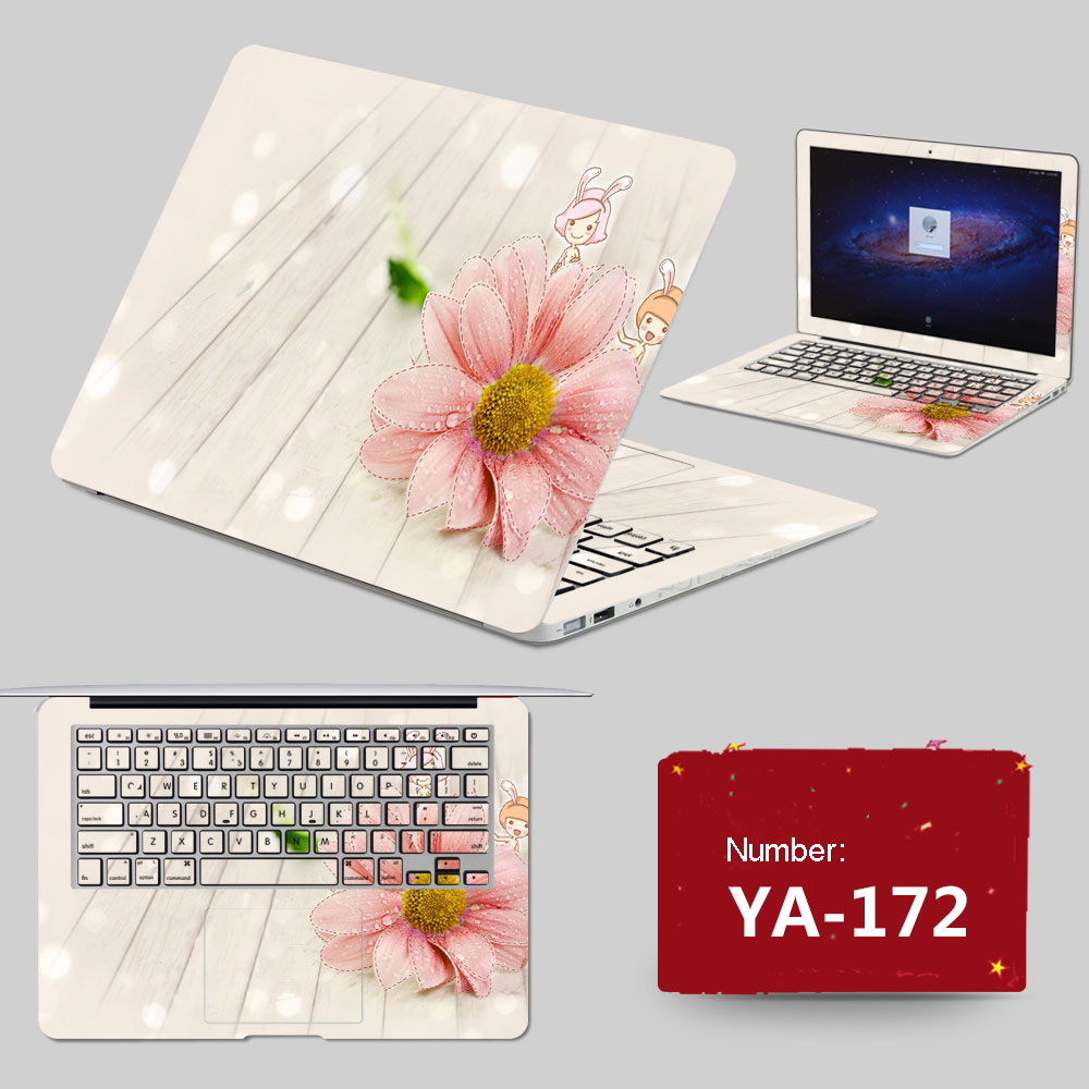 2017 Burst Sells Laptop Stickers Waterproof PVC Skins Customize ABC Sides+Keys+Key Interstice Stickers For Asus X84 N46v Case