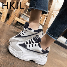 HKJL 2019 spring and autumn new joker net surface sponge bottom leisure large size Lovers shoes sneaker running A604
