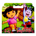 16 Pages Dora Coloring Sticker Book For Children Adult Relieve Stress Kill Time Graffiti Painting Drawing Art Book