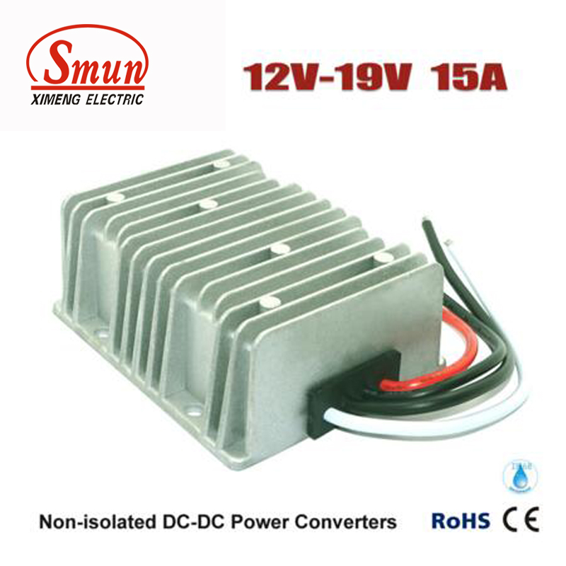 Step Up Voltage Power DC-DC Boost Converter 12V to 19V 15Amp Power Supply waterproof regulator module step up dc 10v 12v 18v to dc 19v 15a 285w for solar power system voltage converter transformer