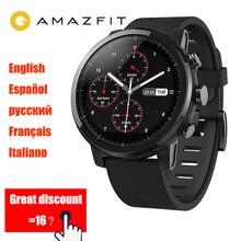 Xiaomi Amazfit Stratos 2 Smart Watch Men Ceramic bezel 5ATM Waterproof Swimming Smartwatch Firstbeat 2.5D Screen GPS sport Watch цена и фото