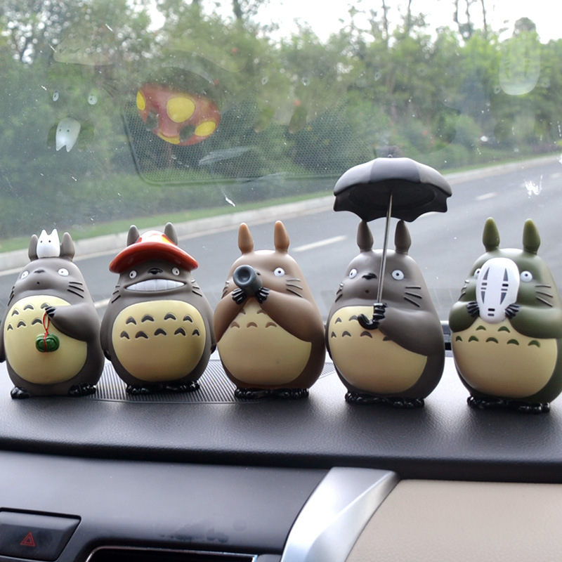 6pcs/lot My Neighbor Totoro Anime action figure Cartoon Collectible Model Toys car Decoration Gifts Action figurine Toys 1set miyazaki hayao my neighbor anime totoro figure totoro mei fairy dust resin action figure toy gifts for garden home decor