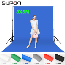 Supon 6 Color Options Screen Chroma key 3 x 5M Background Backdrop Cloth for Studio Photo lighting Non-Woven Fabrics Backdrop