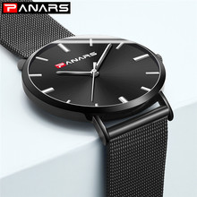 Ultra Thin Quartz Watches for Men Top Brand Black Wristwatch Luxury Male Stainless Steel Mesh Japan Movt Clock Relogio Masculino цена и фото