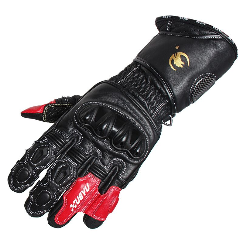 ФОТО 2016 Brand Waterproof Motorcycle Gloves Genuine Leather&Carbon Fiber Motocross Racing Gloves Outdoors off-road Protective Gloves