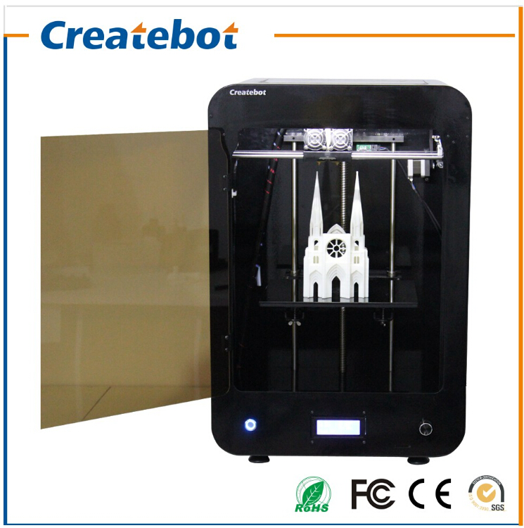 Low Price Cool Black Createbot 3D Printer  for Model Production 2015 FDM New Version Support SD Card Off-line Operation