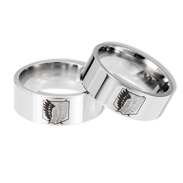 Attack On Titan Anime Anillo de plata