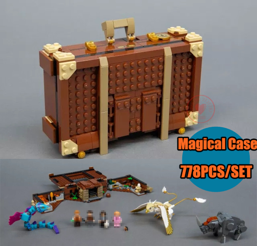 New Newt`s Case of Magical Creatures fit Harry Potter Fantastic Beasts 75952 Building Blocks bricks Kids diy Toys Gifts