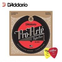 ד 'addario Pro-arte EJ45 ניילון קלאסי, מתח רגיל,. 028-0.043 Daddario מיתרי גיטרה