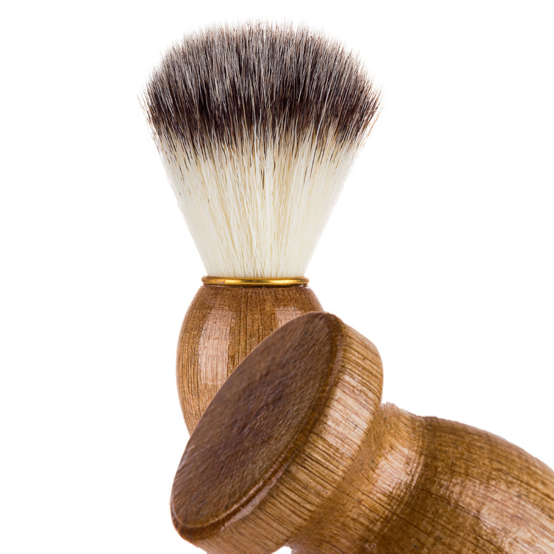 Image 5 - Badger Hair Men's Shaving Beard Brush Salon Men Facial Beard Cleaning Appliance Shave Tool Razor Brush With Wood Handle For Men-in Shaving Brush from Beauty & Health