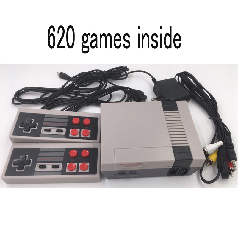 Double Handle Nostalgic Mini TV Game Console 8 Bit Retro Video Game Console Built in 620 Game Handheld Game Console Best Gift in Handheld Game Players from Consumer Electronics