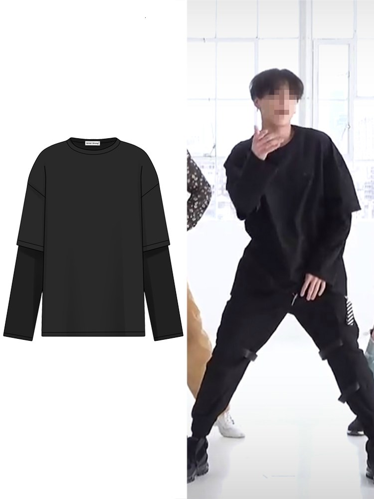 Kpop Blackpink streetwear faux deux vestes à capuche femmes/hommes unisexe 2019 nouveau exo mode à manches longues sweat décontracté mode vêtements