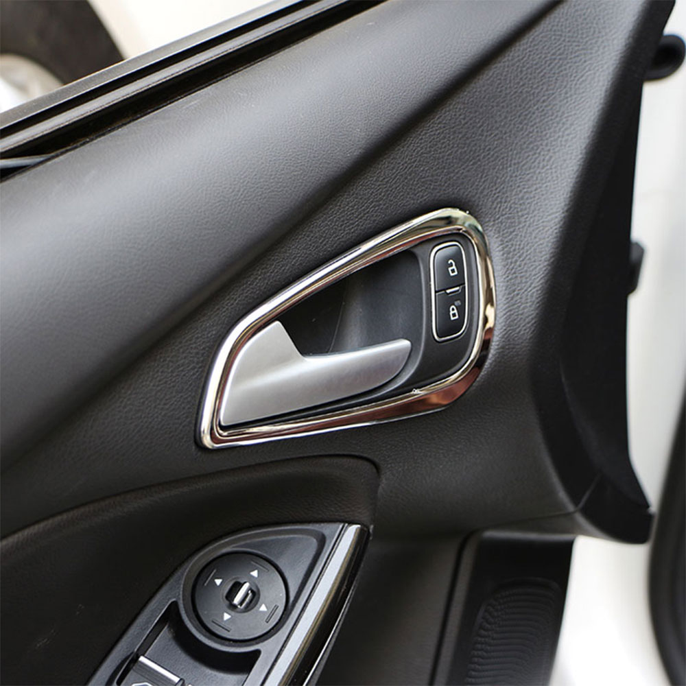 Carmilla Car Door Handle Sticker Sticker Pelindung Pintu Inner Handle Decoration To Ford Focus 4 MK4 2014 2015 2016 2017