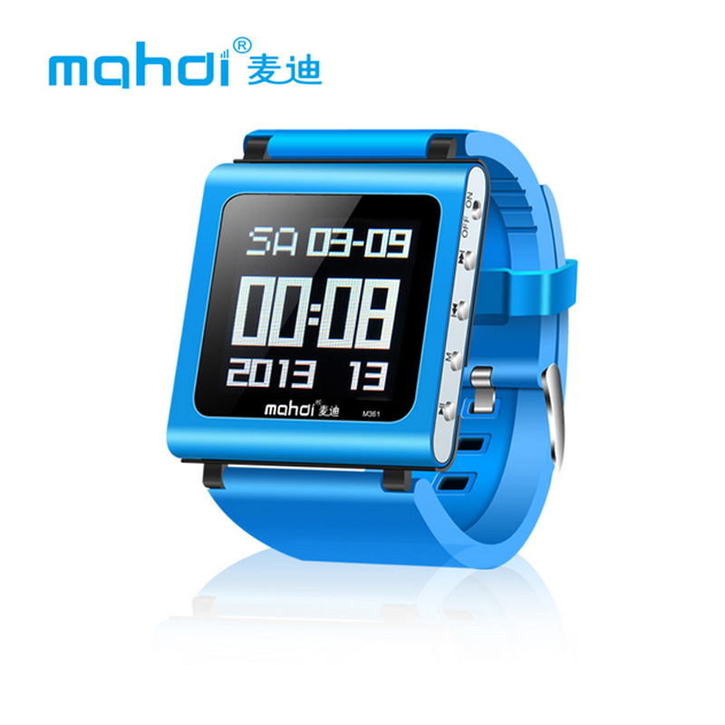 Mahdi M361 8GB Smart Watch Sport MP3 Player Clip Mini Audio Player with FM Radio