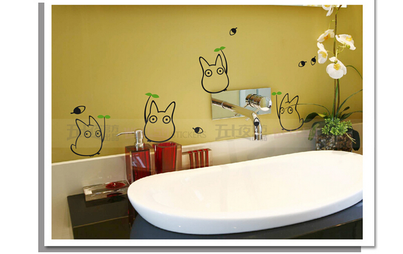 Hot ! Cartoon Totoro Wall Stickers Vinyl Pattern Refrigerator ...