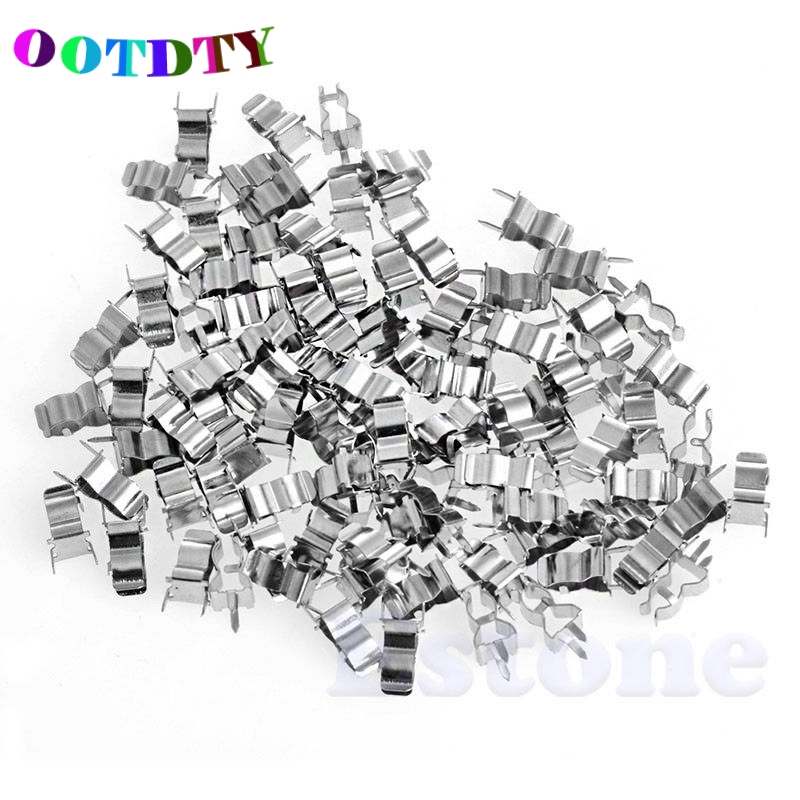 OOTDTY 100Pcs 5*20mm Fuse Holder Clips Glass Quick Fast
