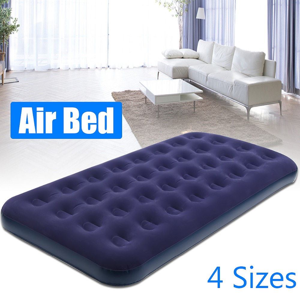 High Quality Air Mattress Inflatable Downy Sleeping Bed Camping Durable Flocked PVC Camping Mat For Outdoor Sports durable thicken pvc car travel inflatable bed automotive air mattress camping mat with air pump
