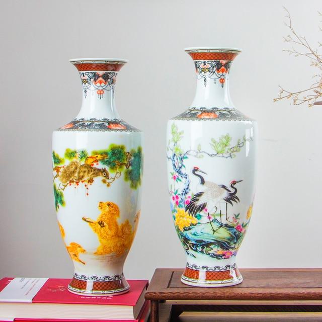 Новое поступление, Классическая традиционная антикварная китайская фарфоровая Цветочная ваза Цзиндэчжэнь для украшения дома и офиса