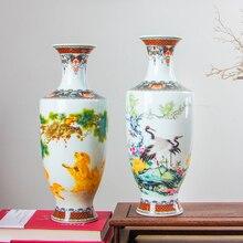 Yeni Varış Klasik Geleneksel Antika Jingdezhen Çin porseleninden çiçekli vazo Ev Ofis Dekor Için