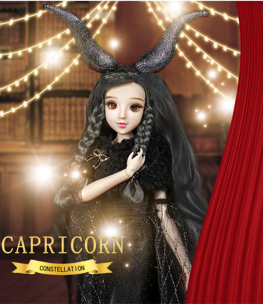 MMGirl 12 Constellation Capricorn like the BJD Blyth doll 1/6 30cm black dress elegant new set of toys and gifts