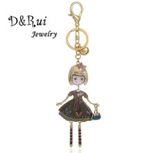 Charm Doll Key Chain Car Keyring Holder Bag Pendant Kids Jewelry Trinkets Key Holder Wallet Ring Keychain for Women Bags Luxury bersai nos turbo nitrogen bottle metal key chain key ring holder car keychain pendant jewelry for women men unique mini keyring