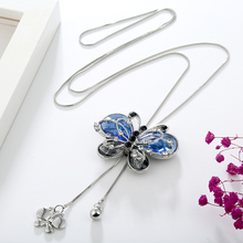 Butterfly Long Crystal Fashion Necklace for Women