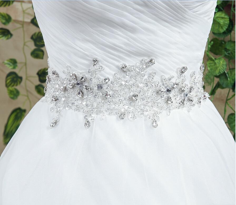 Romantisk Plus Storlek Bröllopsklänning Vit / Ivory Sweep Train - Bröllopsklänningar - Foto 6