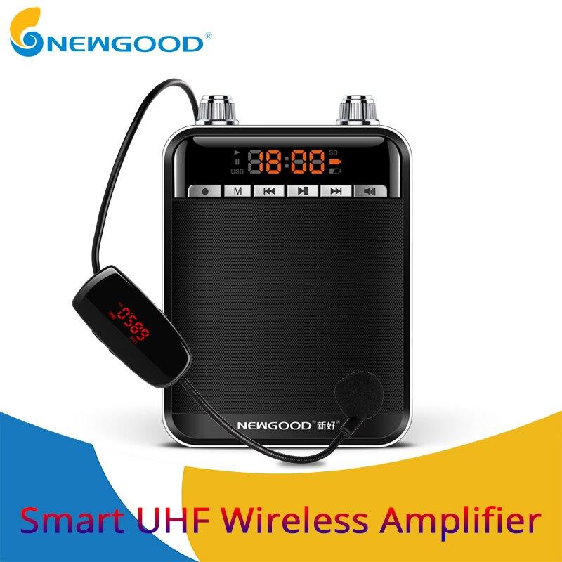 Smart Беспроводной Портативный голос усилитель динамика с UHF Беспроводной микрофон Мегафоны для обучения Экскурсовод Йога