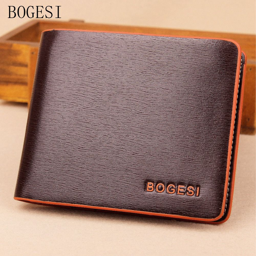 BOGESI Men Wallet Short Paragraph Fashion Men Quality Wallet Women' s Wallet Short Paragraph High Quality Wallet  Photo Holder цена и фото